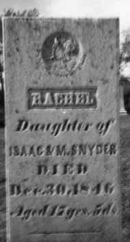 SNYDER, RACHEL - Holmes County, Ohio | RACHEL SNYDER - Ohio Gravestone Photos