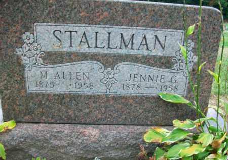 STALLMAN, JENNIE G. - Holmes County, Ohio | JENNIE G. STALLMAN - Ohio Gravestone Photos