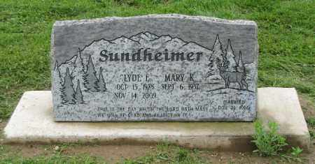 SUNDHEIMER, MARY K. - Holmes County, Ohio | MARY K. SUNDHEIMER - Ohio Gravestone Photos