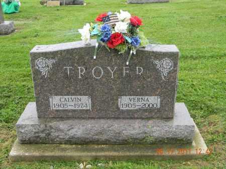 TROYER, VERNA - Holmes County, Ohio | VERNA TROYER - Ohio Gravestone Photos