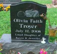 TROYER, OLIVIA FAITH - Holmes County, Ohio | OLIVIA FAITH TROYER - Ohio Gravestone Photos