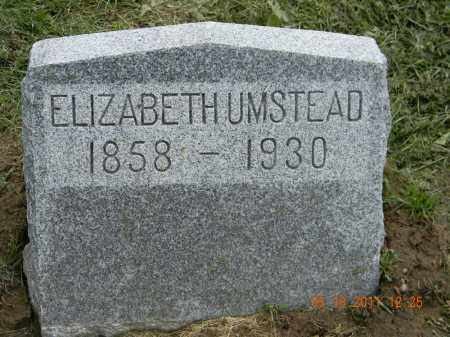 UMSTEAD, ELIZABETH - Holmes County, Ohio | ELIZABETH UMSTEAD - Ohio Gravestone Photos