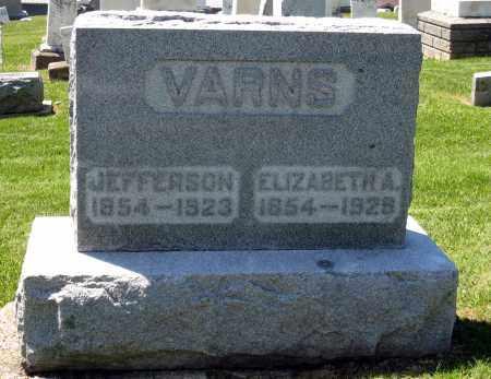 VARNS, ELIZABETH A - Holmes County, Ohio | ELIZABETH A VARNS - Ohio Gravestone Photos