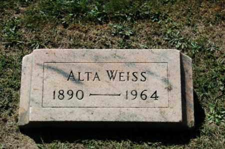 WEISS, ALTA - Holmes County, Ohio | ALTA WEISS - Ohio Gravestone Photos