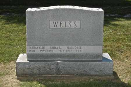 WEISS, BENJAMIN FRANKLIN - Holmes County, Ohio | BENJAMIN FRANKLIN WEISS - Ohio Gravestone Photos
