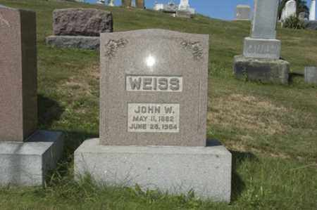 WEISS, JOHN W. - Holmes County, Ohio | JOHN W. WEISS - Ohio Gravestone Photos