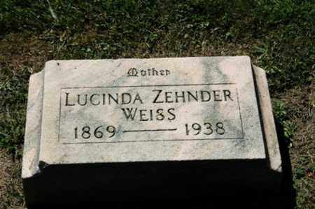 WEISS, LUCINDA - Holmes County, Ohio | LUCINDA WEISS - Ohio Gravestone Photos