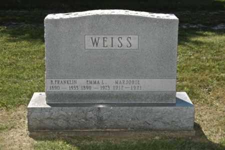 WEISS, MARJORIE - Holmes County, Ohio   MARJORIE WEISS - Ohio Gravestone Photos