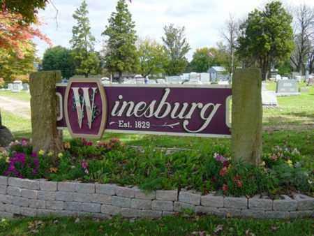 WINESBURG, SIGN - Holmes County, Ohio | SIGN WINESBURG - Ohio Gravestone Photos