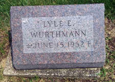 WURTHMANN, LYLE E. - Holmes County, Ohio | LYLE E. WURTHMANN - Ohio Gravestone Photos