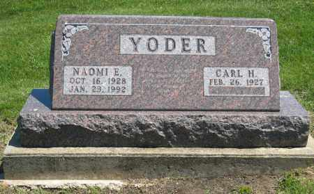YODER, NAOMI E - Holmes County, Ohio | NAOMI E YODER - Ohio Gravestone Photos
