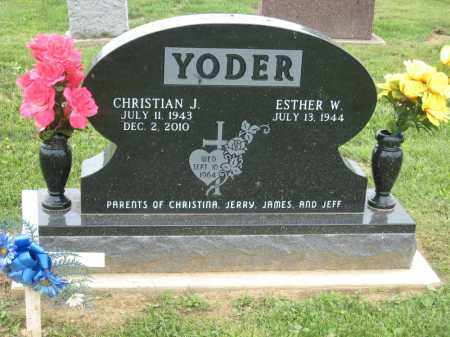 YODER, ESTHER W - Holmes County, Ohio | ESTHER W YODER - Ohio Gravestone Photos