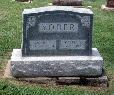 YODER, FLORETTA H - Holmes County, Ohio | FLORETTA H YODER - Ohio Gravestone Photos