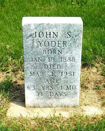 YODER, JOHN S - Holmes County, Ohio | JOHN S YODER - Ohio Gravestone Photos