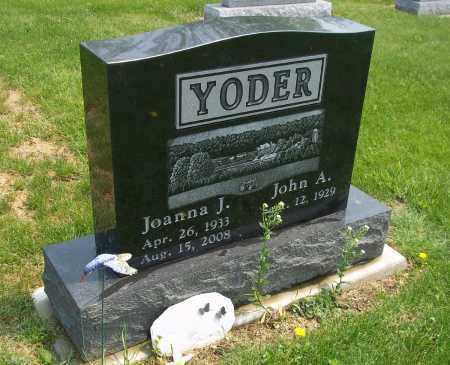 YODER, JOANNA J - Holmes County, Ohio | JOANNA J YODER - Ohio Gravestone Photos