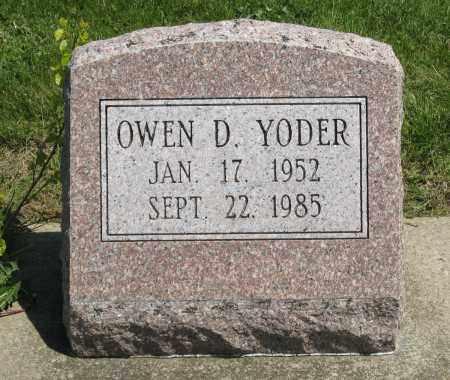 YODER, OWEN D. - Holmes County, Ohio | OWEN D. YODER - Ohio Gravestone Photos