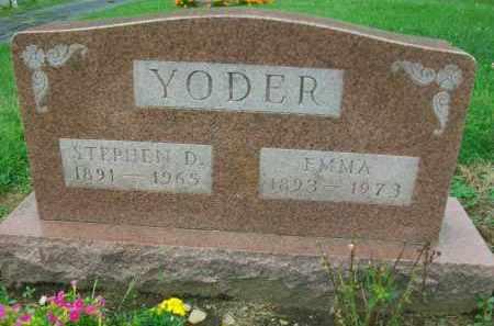 YODER, STEPHEN D. - Holmes County, Ohio | STEPHEN D. YODER - Ohio Gravestone Photos