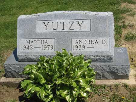 YUTZY, MARTHA - Holmes County, Ohio | MARTHA YUTZY - Ohio Gravestone Photos