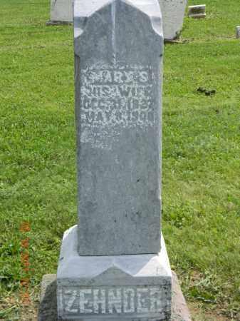 ZEHNDER, MARY S. - Holmes County, Ohio | MARY S. ZEHNDER - Ohio Gravestone Photos