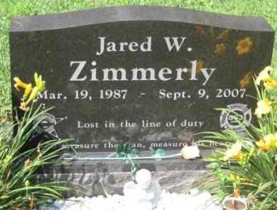 ZIMMERLY, JARRED W. - Holmes County, Ohio   JARRED W. ZIMMERLY - Ohio Gravestone Photos