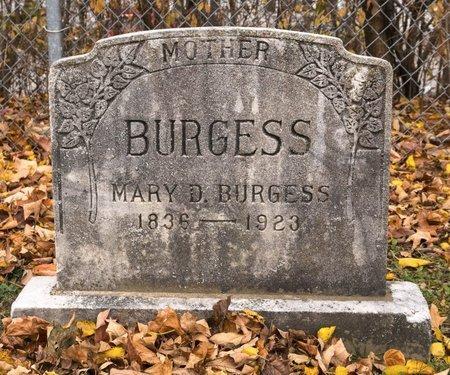 BURGESS, MARY D - Huron County, Ohio   MARY D BURGESS - Ohio Gravestone Photos