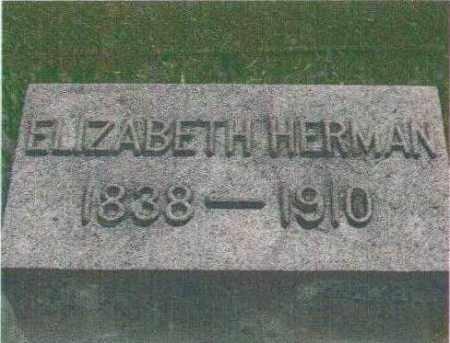 HERMAN, ELIZABETH - Huron County, Ohio   ELIZABETH HERMAN - Ohio Gravestone Photos