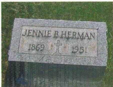 HERMAN, JENNIE BARBARA - Huron County, Ohio | JENNIE BARBARA HERMAN - Ohio Gravestone Photos