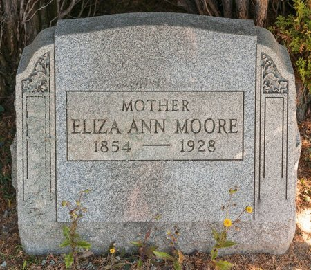 MOORE, ELIZA ANN - Huron County, Ohio | ELIZA ANN MOORE - Ohio Gravestone Photos