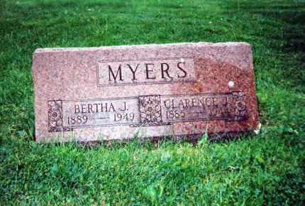 MYERS, BERTHA J. - Huron County, Ohio | BERTHA J. MYERS - Ohio Gravestone Photos