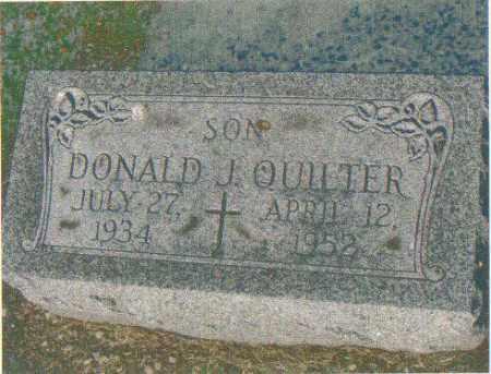 QUILTER, DONALD J, - Huron County, Ohio | DONALD J, QUILTER - Ohio Gravestone Photos