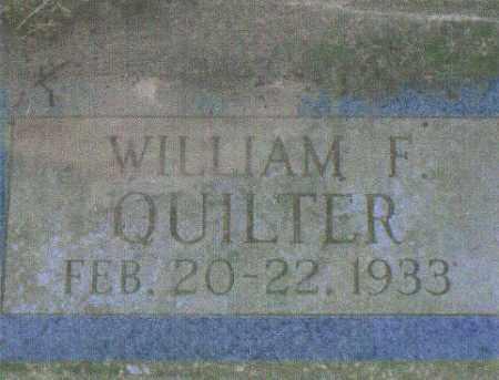 QUILTER, WILLIAM F. - Huron County, Ohio | WILLIAM F. QUILTER - Ohio Gravestone Photos