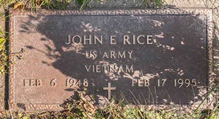 RICE, JOHN E - Huron County, Ohio | JOHN E RICE - Ohio Gravestone Photos