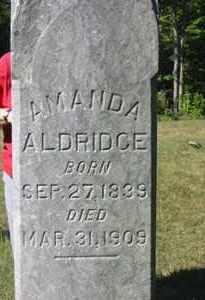 ALDRIDGE, AMANDA - Jackson County, Ohio | AMANDA ALDRIDGE - Ohio Gravestone Photos