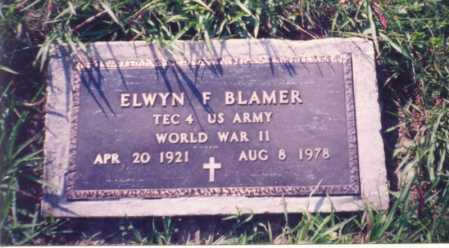 BLAMER, ELWYN F. - Jackson County, Ohio | ELWYN F. BLAMER - Ohio Gravestone Photos