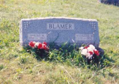 BLAMER, HAROLD M. - Jackson County, Ohio   HAROLD M. BLAMER - Ohio Gravestone Photos