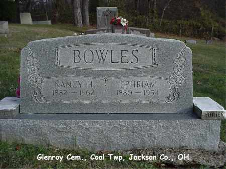 "BOWLES, NANCY ""HESTER"" - Jackson County, Ohio | NANCY ""HESTER"" BOWLES - Ohio Gravestone Photos"