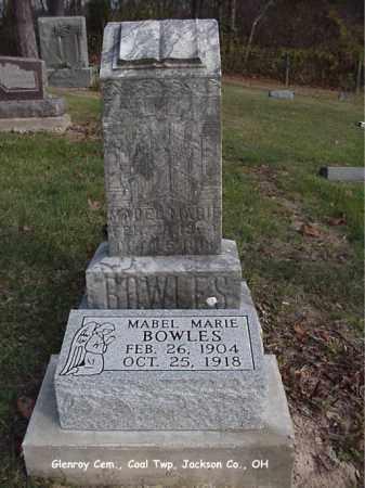 BOWLES, MABEL MARIE - Jackson County, Ohio | MABEL MARIE BOWLES - Ohio Gravestone Photos