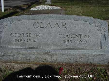 SHEWARD CLAAR, CLARENTINE - Jackson County, Ohio | CLARENTINE SHEWARD CLAAR - Ohio Gravestone Photos