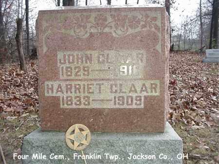 CLAAR, HARRIET - Jackson County, Ohio   HARRIET CLAAR - Ohio Gravestone Photos