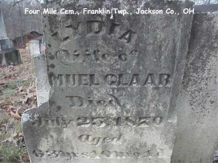 STROPES CLAAR, LYDIA - Jackson County, Ohio | LYDIA STROPES CLAAR - Ohio Gravestone Photos