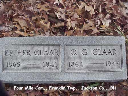 CLAAR, OSCAR - Jackson County, Ohio | OSCAR CLAAR - Ohio Gravestone Photos
