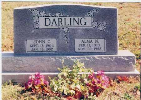 ALMA N., DARLING - Jackson County, Ohio | DARLING ALMA N. - Ohio Gravestone Photos