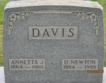 DAVIS, D. NEWTON - Jackson County, Ohio | D. NEWTON DAVIS - Ohio Gravestone Photos