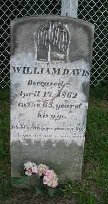 DAVIS, WILLIAM - Jackson County, Ohio | WILLIAM DAVIS - Ohio Gravestone Photos