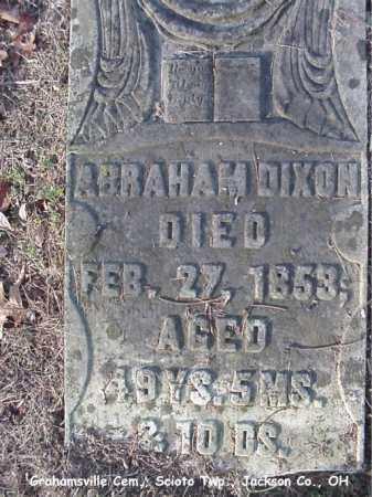 DIXON, ABRAHAM - Jackson County, Ohio | ABRAHAM DIXON - Ohio Gravestone Photos