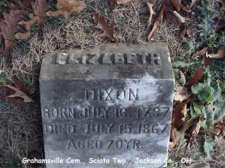 GRAHAM DIXON, ELIZEBETH - Jackson County, Ohio   ELIZEBETH GRAHAM DIXON - Ohio Gravestone Photos