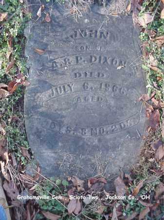 DIXON, JOHN - Jackson County, Ohio   JOHN DIXON - Ohio Gravestone Photos