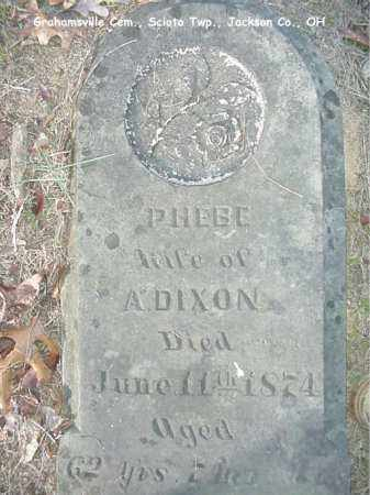 DIXON, PHEBE - Jackson County, Ohio | PHEBE DIXON - Ohio Gravestone Photos