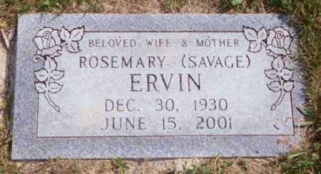 SAVAGE ERVIN, ROSEMARY - Jackson County, Ohio | ROSEMARY SAVAGE ERVIN - Ohio Gravestone Photos
