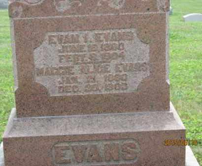 EVANS, EVAN - Jackson County, Ohio   EVAN EVANS - Ohio Gravestone Photos